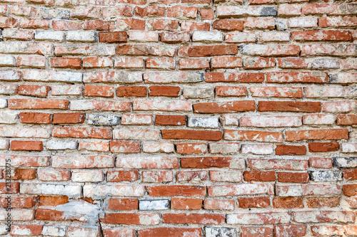 Fototapeta Weathered brick wall