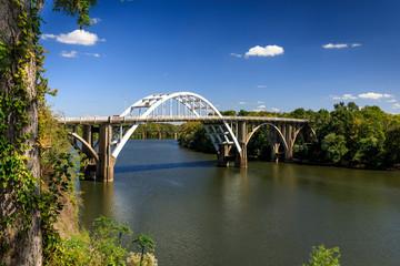 Historic Edmund Pettus Bridge, Selma, Alabama © korkeakoski