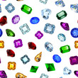 Illustration background seamless shiny gems of different cuts - 213220963