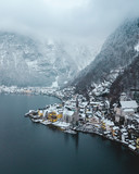 Halstatt Austria seen from the sky - 213221910