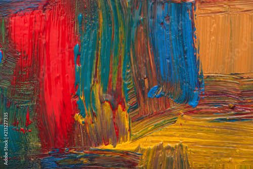 Poster Abstract art background. Hand-painted background