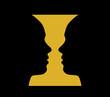 Rubin vase, optical illusion
