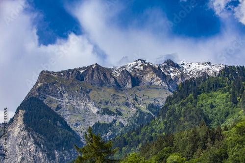 Swiss Alps Raetikon near Maienfeld Switzerland - 213243356