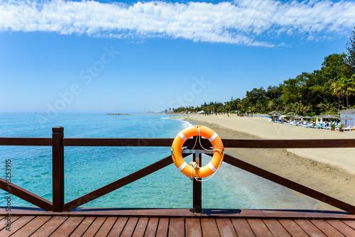 Leinwanddruck Bild Playa de Puente Romano-Naguele, Marbella, Andalusia, Spain