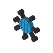 Internet isometric right top view 3D icon