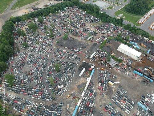 Poster Aerial view of landfill