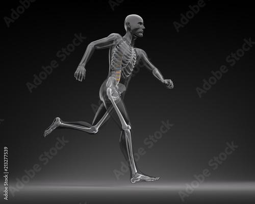 Laufender Athlet vor dunklem Hintergrund