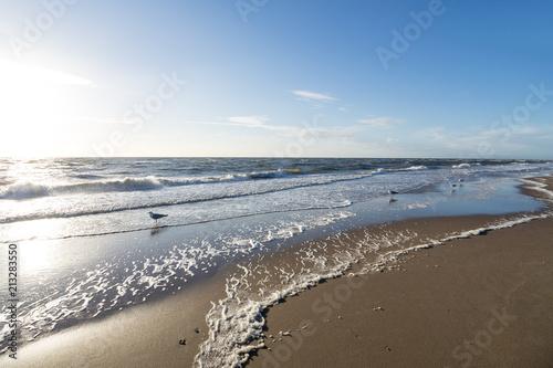 Aluminium Noordzee Dutch North Sea coast near Katwijk aan Zee