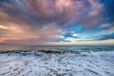 Sunset over ocean - 213291126