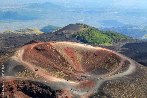 Foto Murales Collapsed volcano cone, Mount Etna, Sicily, Italy
