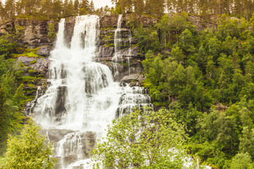 Waterfalls innorwegian mountains