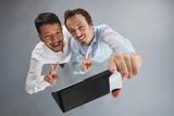 Two friends man take selfie - 213306702
