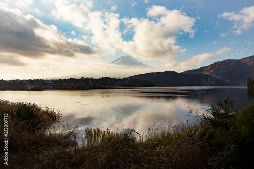 富士山・朝・河口湖