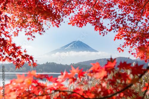 富士山・河口湖・もみじ・秋