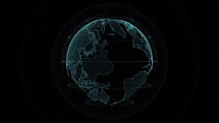 Digital globe -  planet earth animation. © tawatchai1990