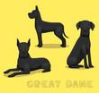 Dog Great Dane Cartoon Vector Illustration
