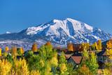 Residential neighborhood in Colorado at autumn - 213334966