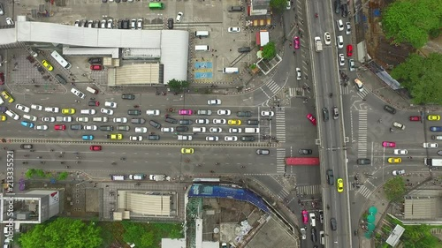 Poster Aerial view of traffic over express way in heart of bangkok Thailand