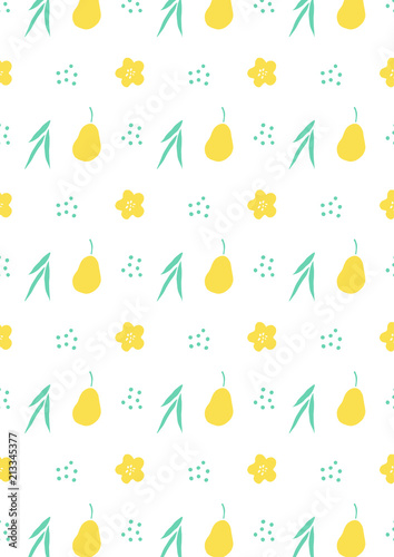 Pear pattern background - 213345377