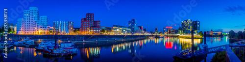 Canvas Donkerblauw Düsseldorf - Germany