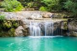 Erawan National Park beautiful waterfall in kanchanaburi Thailand