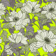 Seamless pattern with poppy, Peonies or roses flowers - 213363930
