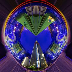 Città fantastica a 360 gradi