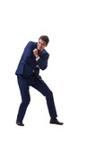 Young businessman isolated on white background  - 213394909