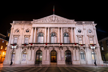 Camara Municipal de Lisboa at night