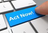 act now button concept 3d illustration - 213416556