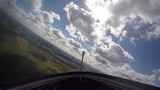 Clip from a glider cockpit while flying. - 213432732