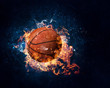 canvas print picture - Basketball game concept