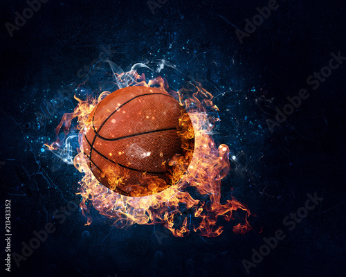 canvas print picture Basketball game concept