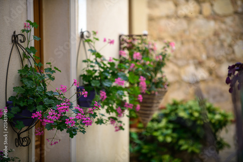 On the streets of a medieval village Gorbio. French Riviera. Cote d'Azur. © alexanderkonsta