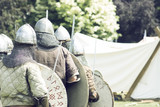 Medieval Warriors in position for battle - 213445910