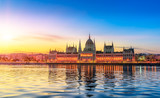 Hungarian Parliament Building by Sunrise - 213457350