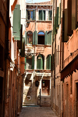 Old streets in Venice.