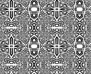 Seamless abstract pattern in a black - white colors for design.