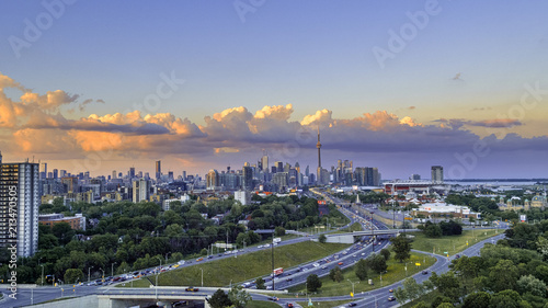 Plakat Aerial view of Toronto city from above, Toronto, Ontario, Canada