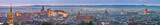 Krakow, Poland night panorama of historical old city