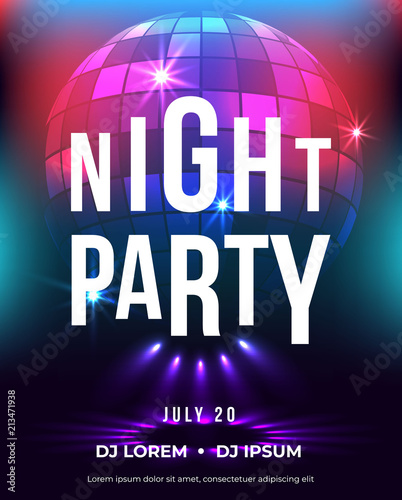 Dance party poster vector background template