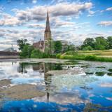Historische Kirche am Hafen von Kopenhagen - 213477949