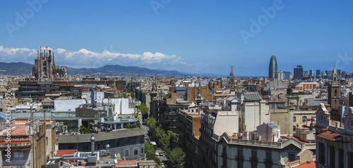 Aluminium Barcelona Barcelona skyline, Spain