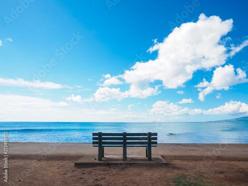 ハワイのベンチ
