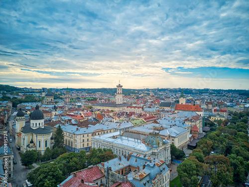 Lviv City Aerial, Ukrain - 213495774