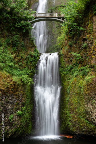 Multnomah Falls in Columbia River Gorge, Oregon, USA - 213496111