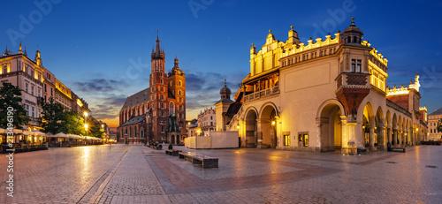 obraz PCV Krakow, Poland-June 2018: Main Market Square,Sukiennice ,Krakow, Poland.