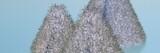 мохнатые конусы на голубом фоне