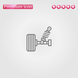 suspension icon vector.Perfect grey illustration on white background - 213504384