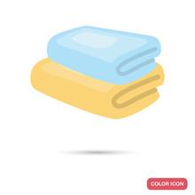 Bath Towels Color Flat Icon Sticker